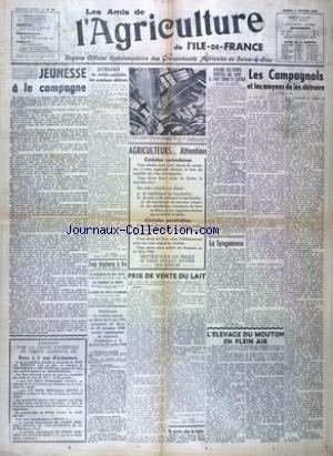 AMIS DE L'AGRICULTURE DE L'ILE DE FRANCE (LES) [No 34] du 07/02/1942