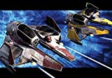 Tapetokids Fototapete - Star Wars Obi Anakin Jedi Sternjäger - Vlies 254 x 184 cm (Breite x Höhe) - Wandbild Star Wars