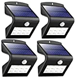 12 LED Security Garden Solar lights, LOENDE Solar Wall Light Outdoor Waterproof LED Motion Sensor Light for Step, Garden, Yard, Deck (4 Pack)