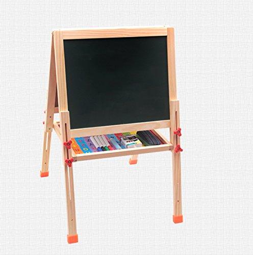 Global- Kinder Holz Material Tafel Whiteboard Sided Drawing Board, Haushalt Falten Can Lift Tafel Gerüst Vertikale Zeichnung Board (Höhe 90cm)