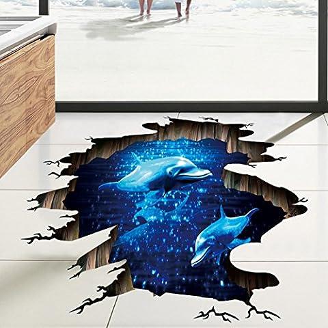 DOLDOA Wandtattoo,Boden Wand Aufkleber entfernbare Wandabziehbild Vinyl Kunst Wohnzimmer (60cm * 90cm/23.62