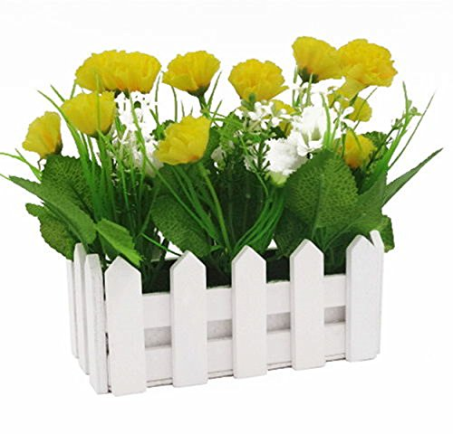 Gewerkschaft Tesco 16cm Holzzaun Simulation Blumen Carnation,Gelb