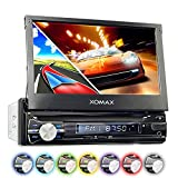 XOMAX XM-VRSUN741BT Autoradio / Moniceiver / Naviceiver mit GPS Navigation + Navi Software inkl. Europa Karten (38 Länder) + Bluetooth Freisprechfunktion + 7
