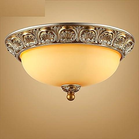 Continental luce a soffitto minimalista sala viva luce illumina la conformità con la camera da letto con balcone illuminazione ingranaggio della American Art Nouveau , marrone 40*18 lampade