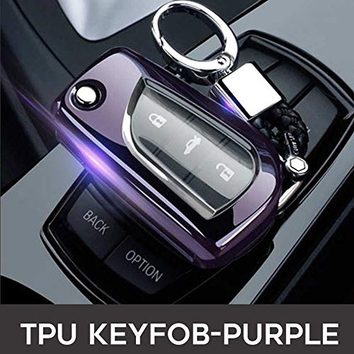 SUNQQB Für von autoschlüssel Abdeckung Fall Fernbedienung für Nissan Rogue xtrail t32 t31 Qashqai j11 j10 Kick tiida Pathfinder Murano Juke Versa Hinweis Infiniti,Purple A (Nissan Rogue Schlüsselanhänger)
