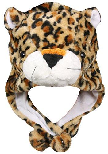 Honeystore Tiermütze Tier Mütze Plüsch Plüschmütze Verkleidung tiger Strickmütze Mehrfarbig-01