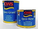 CWS Epoxi Grund weiss, 0,6L - Stammlack zur matten Zweikomponenten-Universalgrundierung für Untergründe wie z.B. Hart-PVC, Acryl, melaminharzbeschichtete Platten, Resopal, Glasal, Aluminium, Zink, Eisen, Stahl, keramische Fliesen, NE-Metalle usw.