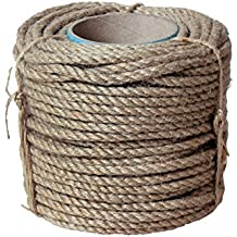 Natur Sisal Leine Seil Sisalseil auch für kratzbaumseil Kratzbaum Katzenbaum Naturprodukt Hanf Jute Tau Seil Tauziehen Absperr seil (25 Meter Ø 8 mm)