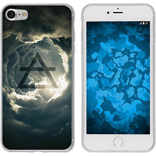 PhoneNatic Case für Apple iPhone 7 Silikon-Hülle Element Feuer M3 Case iPhone 7 Tasche + 2 Schutzfolien Motiv:01 Element Luft