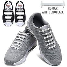 Homar No Tie Lacci per scarpe per bambini e adulti - Impermeabile in silicone elastico (Verde Womens Sandali)