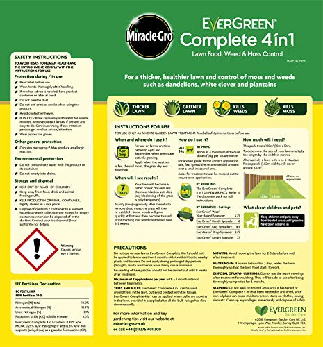 Zoom IMG-1 miracle gro evergreen lawn ferts