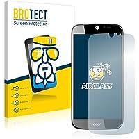 BROTECT AirGlass Protector Pantalla Cristal Flexible Transparente para Acer Liquid Jade S55 Protector Cristal Vidrio - Extra-Duro, Ultra-Ligero, Ultra-Claro
