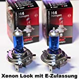2 x LIMA H4 Xenon Look 12V 55/60W Halogen Lampe super weiss (p43t)