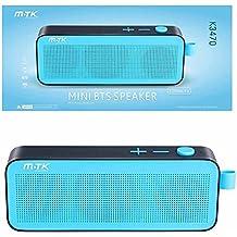 Moveteck - Altavoz Bluetooth K3470 3W x 2 Azul, Radio FM, MP3 y Manos Libres