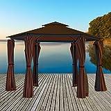 Pavillon mit Metallgestell - Gartenpavillon 270 x 270 x 275 cm