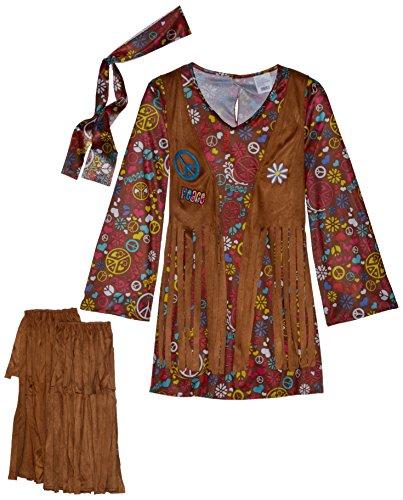 Kostüm Hippie Child Love - Unbekannt Kind Peace & Love Hippie Kostüm Medium (8-10)