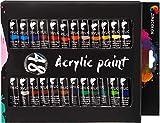 Zenacolor Acrylfarben Set mit 48 Tuben je 12 ml Acryl Farbe Künstler Set