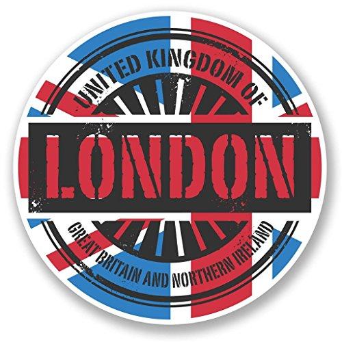 Preisvergleich Produktbild 2x London England UK vinyl Aufkleber Aufkleber Laptop Reise Gepäck Auto Ipad Schild Fun # 6026 - 20cm/200mm Wide