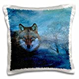 Doreen Erhardt Wildlife - The Blue Wolf is a digital composition of six photographic elements. - 16x16 inch Pillow Case (pc_173003_1)