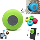CLARKS Water Resistant Bluetooth Shower Speaker - In-Built Control Buttons, Microphone, Powerful Suction Cup, W/Safety Lanyard - Best For Bath, Pool, Car, Beach, Indoor/Outdoor Use (Color May Vary)
