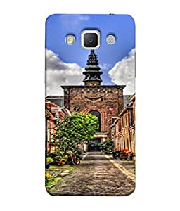 PrintVisa Designer Back Case Cover for Samsung Galaxy Grand Max G720 (Blue clean clouds greenery road colourful)