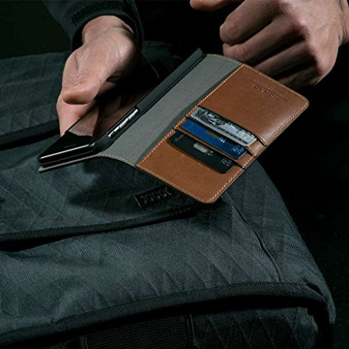 Nomad Horween Leather Folio Case for iPhone 7 Plus - With Cards and Cash Pockets - Rustic Brown Rustic Brown