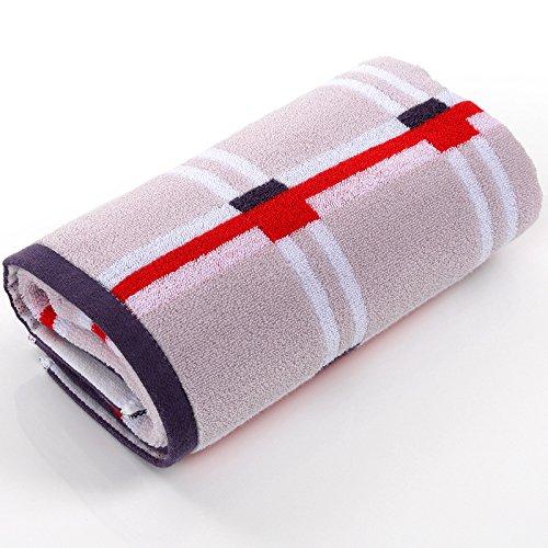 GGCCX Asciugamano Da Bagno asciugamano Cotone Idrofilo Per Aumentare Il Movimento Di Allargamento Lungo Di Spessore Telo Palestra (40 * 100 Pollici) , Brown