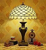 YDYG Lampes de Table de Style Tiffany, Lampes de Chevet en vitrail rétro américain E27 Lampes de Bureau en Alliage de décoration de Chambre à Coucher Φ50cm