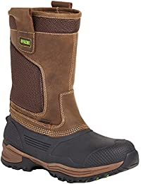 APACHE INDUSTRIAL WORKWEAR BROWN TRACTION RIGGER SAFETY WATERPROOF BOOTS-UK 7 (EU 41)