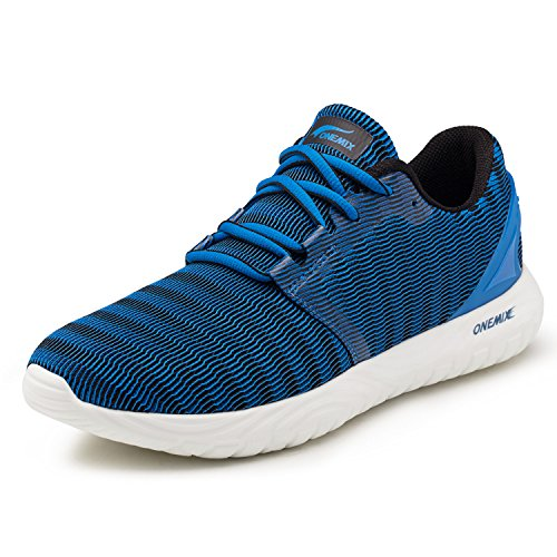 OneMix Running Shoes Men Trainers - Gym Sneakers - Casual Sports Lightweight Breathable Sneakers 1309 Blue 7