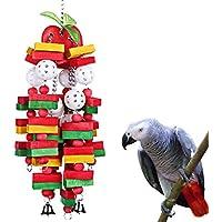KINTOR Bird Mastication Grand Medium–Jouet Perroquet Cage Bite Toys Gris du Gabon Aras Cacatoès Éclectus Amazon, Vert Pomme
