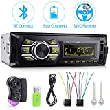Car Stereo,Latest Fast Charging Car Radio with SWC and 7 Backlights, Car Stereo