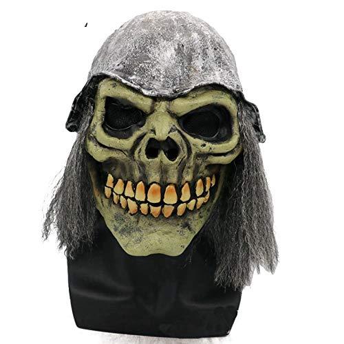JNKDSGF HorrormaskeJoker Clown Kostüm Maske Creepy Evil Scary Halloween Clown Maske Adult Ghost Festliche Party Maske Zubehör Dekoration-Bild Farbe (Clown Kostüm Für Erwachsene Professionelle)