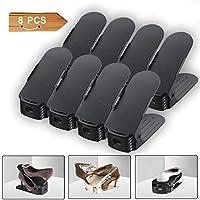 Rangement Chaussures Réglables - Rangement Chaussures en Plastique - Pour organiser et optimiser l'espace dans votre armoire (Couleurs)
