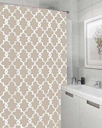 ezon-ch anpassen Wasserdicht Geometrische gemustert Polyester-Print-Badezimmer Dusche Vorhang, Textil, beige, 36x78 (Dusche Vorhang Kostüm)