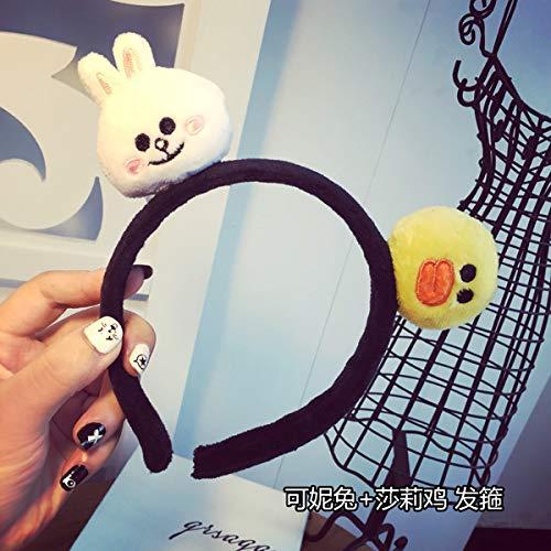 TDTSHOP Frauen stirnband Koreanische Version des Zustroms von kreativen weiblichen Haarschmuck Brown Xiong Ke Ni-Kaninchen Sally-Huhn, das Meng-Haarreifenhaarnadelhaarring-Straßenschießen ()