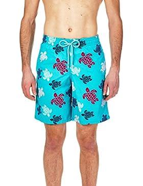 VILEBREQUIN Bañador Largo con Estampado Multicolor Turtles para Hombre
