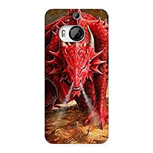 Cute Red Fantastic Dragon Back Case Cover for HTC One M9 Plus