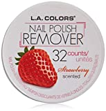 LA COLORS Polish Remover Pads - Strawberry Scent