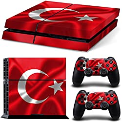 Morbuy PS4 Skin Vinyl Autocollant Decal Sticker pour Playstation 4 console + 2 Dualshock Manette Set Skins (Turquie)