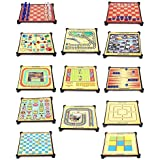 [Sponsored Products]Aaryan Enterprise 13 In 1 Magnetic Family Board Game -Chess, Backgammon, Ludo, Tic-Tac-Toe, Checkers, 9 Men's Morris, Travel Bingo, Football, Space Venture, Train Chess, Racing Game, Steeplechase , Snakes & Ladders