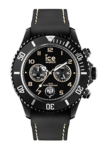 Ice-Watch Herren-Armbanduhr XL Chrono Drift beige Chronograph Quarz Silikon CH.BBG.B.S.14