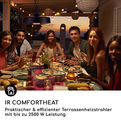 blumfeldt Camden Heat • Infrarot-Heizstrahler • Terrassenheizstrahler • 2500 W • IR ComfortHeat • IP24 • Infrarot-Wärme • Carbon-Heizelement • Easy Control • inkl. Kette und 4 x Kabelbinder • schwarz - 7