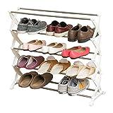 Willsego Mehrschichtiges Schuhregal, mehrlagiges Schuhregal aus rostfreiem Stahl für Schlafzimmer, Schlafsaallager, Hohle Montage, Schuhschrank, Schwerkraft (Farbe : -, Größe : -)