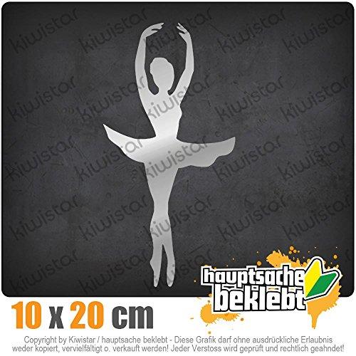 KIWISTAR Ballerina Primaballerina 20 x 10 cm IN 15 FARBEN - Neon + Chrom! Sticker Aufkleber