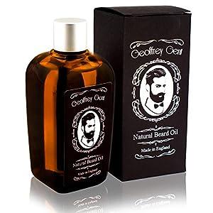 Geoffrey Gent Best Beard Oil For Men 100ml NO SCENT Jojoba Oil Beard and Conditioner Grooming 100% Natural Moisturiser Made in UK