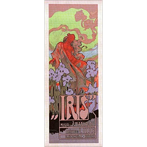 Stampa su legno 30 x 70 cm: Hohenstein Iris di Adolfo Hohenstein