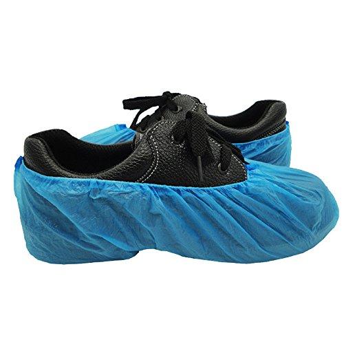 100 Stück - Überschuhe, Schuhüberzieher, CPE Überschuhe,Arbeits Schuh Überzug, Blau