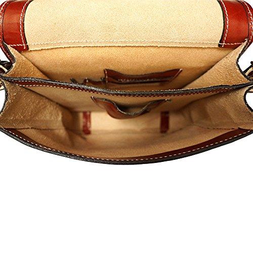 Cartable Porte-document Serviètte avec bandoulière 6516 Rouge