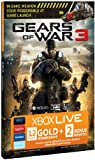 Cheapest Xbox Live 12 Month Gold Membership Card + 2 Bonus Months + Exclusive Weapon Download Code - Gears Of War 3 Design on Xbox 360
